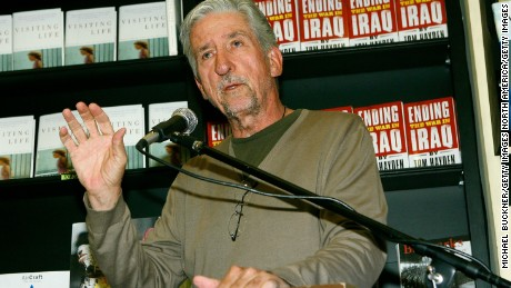 "LOS ANGELES - JUNE 24:  Author Tom Hayden speaks before signing copies of his book, ""Ending The War in Iraq"" at Book Soup June 24, 2007 in Los Angeles, California.  (Photo by Michael Buckner/Getty Images)"