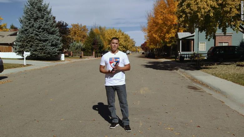 Angel Sanchez, 33, is a progressive activist in Longmont, Colorado.