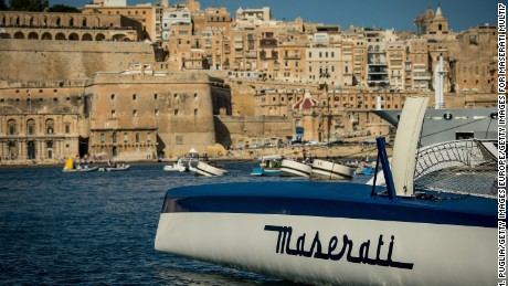 LA VALLETTA, MALTA - OCTOBER 22:  Giovanni Soldini on board of Maserati Multi70 attends the Rolex Middle Sea Race on October 22, 2016 in La Valletta, Malta.  (Photo by Tullio M. Puglia/Getty Images for Maserati Multi70)