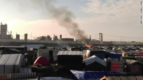 "Clearance of the Calais ""Jungle"" camp in France on October 25, 2016"