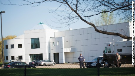 CHANHASSEN, MN - APRIL 22: Police continue to stand guard at Paisley Park, the home and studio of Prince, on April 22, 2016 in Chanhassen, Minnesota. Prince, 57, was pronounced dead shortly after being found unresponsive yesterday at Paisley Park. (Photo by Scott Olson/Getty Images)