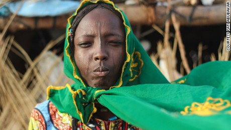 A Kwayam girl in	Dalori nomadic community