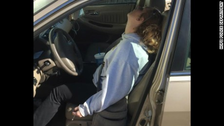 Police found an Indiana mother who overdosed on heroin passed out in car.