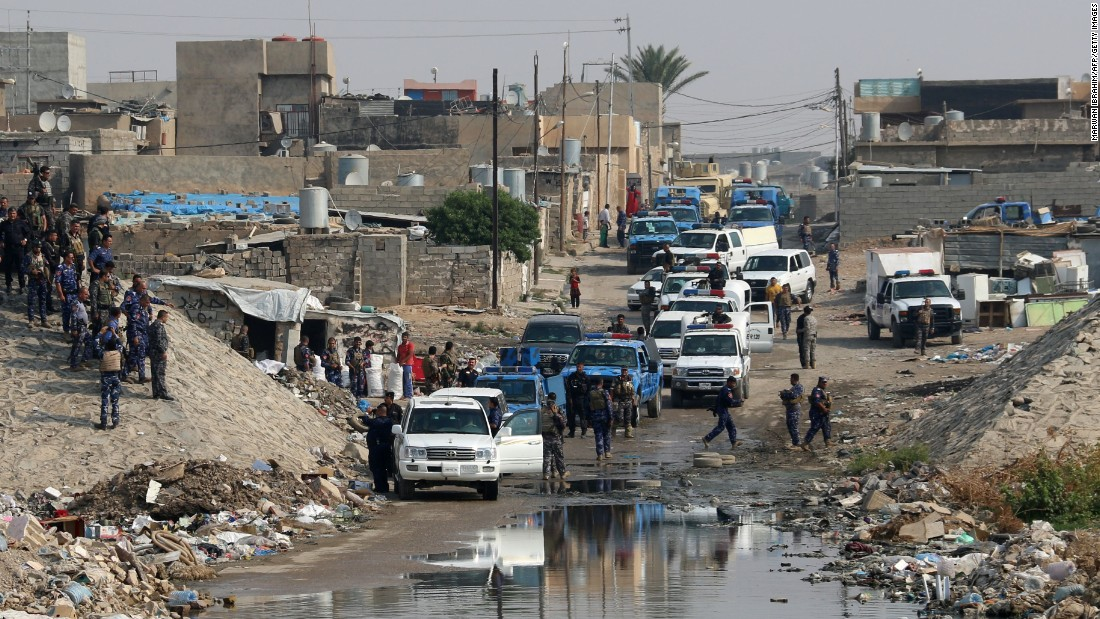 Iraqi forces patrol the Kirkuk area for members of ISIS on October 25. The terror group has launched surprise attacks in other parts of Iraq, including Kirkuk, to distract coalition forces from the Mosul campaign and to tie up their resources elsewhere.<br />