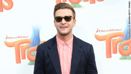 "Justin Timberlake attends the premiere of 20th Century Fox's ""Trolls"" at Regency Village Theatre on October 23."