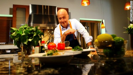 Zimmern learned to cook from his grandmother as a child in New York City.