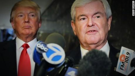 Donald Trump Newt Gingrich split