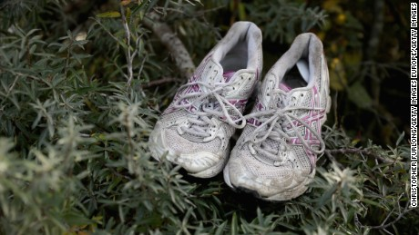 CALAIS, FRANCE - OCTOBER 27:  Training shoes are left outside a migrant shack in the now nearly deserted 'Jungle' migrant camp on October 27, 2016 in Calais, France. The French authorities cleared the camp quicker than expected with migrants only taking what they could physically carry. Authorities have now declared the site empty of migrants although aid workers say that up to 100 minors are still living there. The French government say 5,600 people have been moved to reception centres across France since Monday.  (Photo by Christopher Furlong/Getty Images)