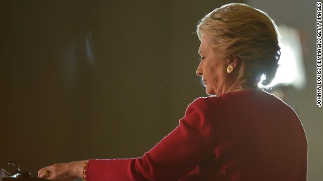 COCONUT CREEK, FL - OCTOBER 25:  Democratic presidential nominee former Secretary of State Hillary Clinton speaks at her rally to highlight the start of in-person early voting at Omni Auditorium, Broward College North Campus on October 25, 2016 in Coconut Creek, Florida. With two weeks to go until Election Day, Clinton will urge Florida voters to take advantage of in-person early voting, which begins in many Florida counties.  (Photo by Johnny Louis/FilmMagic)