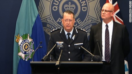 Queensland Police Commissioner, Ian Stewart, speaks about the killing of a bus driver in a suburb of Brisbane, Australia.