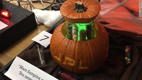 This pumpkin carved by NASA engineers has Mars samples.