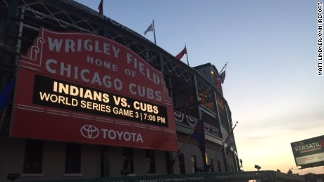 Friday night's game marks the Cubs' first World Series game at home since 1945.