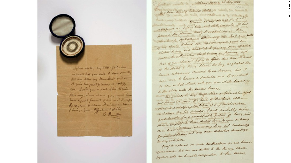 Alexander Hamilton's letters to be auctioned
