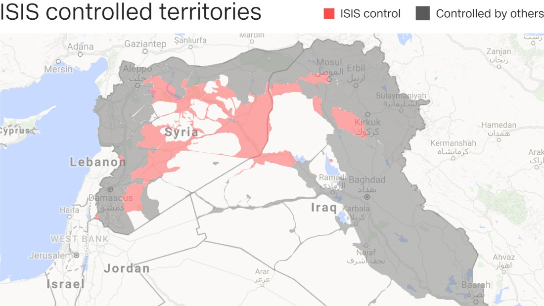 As donald trump takes over a diminished isis awaits cnn ihs conflict monitor google maps gumiabroncs Gallery