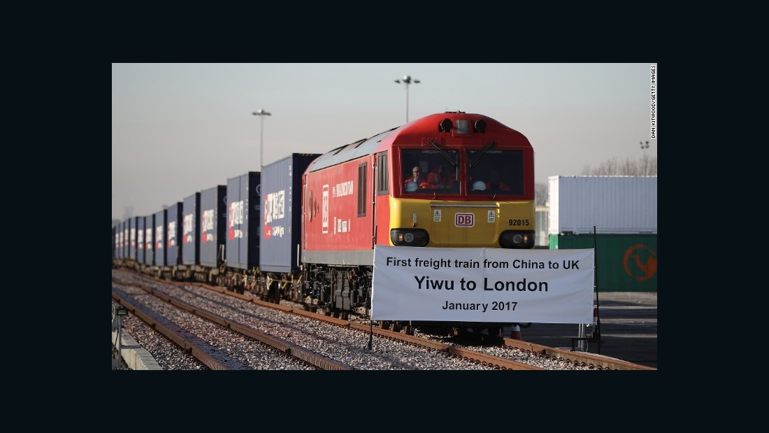 China to UK freight train arrives in London