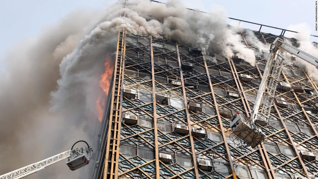 Collapse followed huge fire