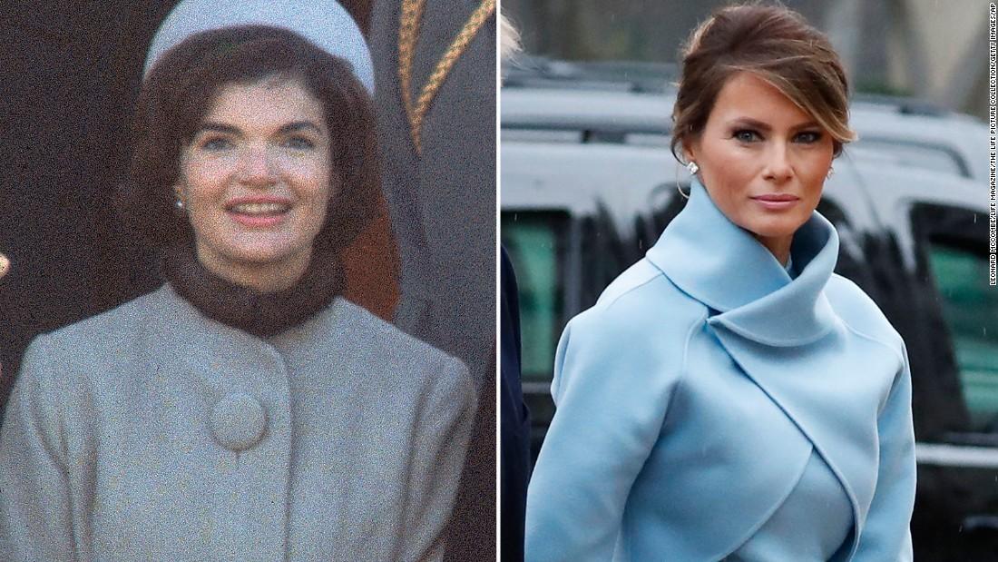 Melania Trump channels Jackie Kennedy in dress