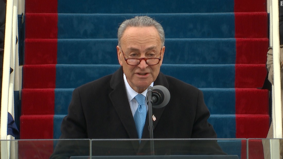 Sen. Chuck Schumer delivers remarks at Trump inauguration ceremony