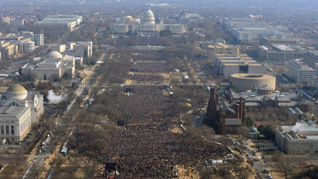 Comparing Donald Trump and Barack Obama's inaugural crowd sizes ...