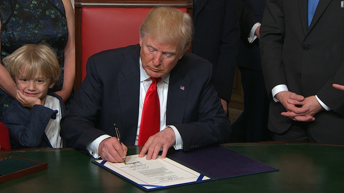 President Trump signs first bill into law