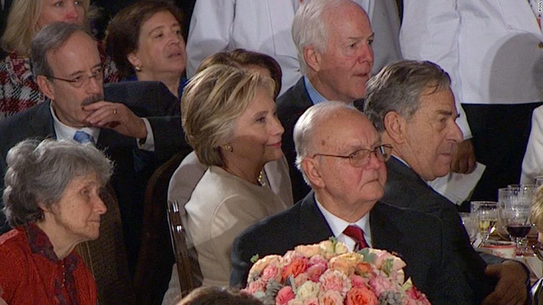 Trump salutes Hillary Clinton