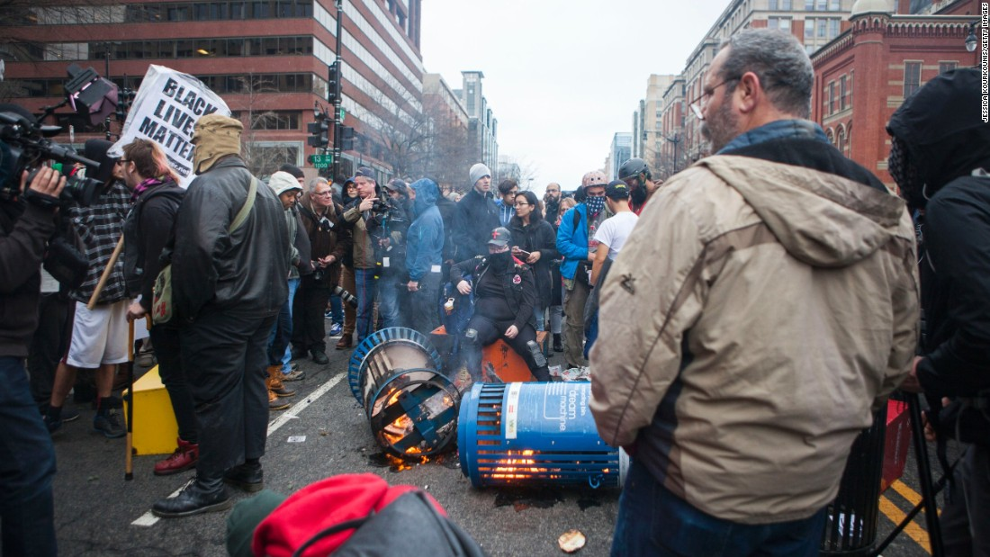 Nearly 100 arrested at protests in Washington
