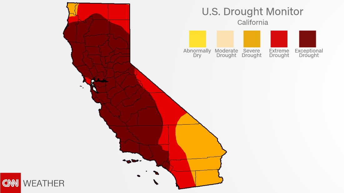 California Drought Recent Rains Have Almost Ended It CNN - Us drought map latest