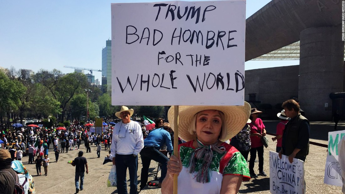 Mexicans march against Trump