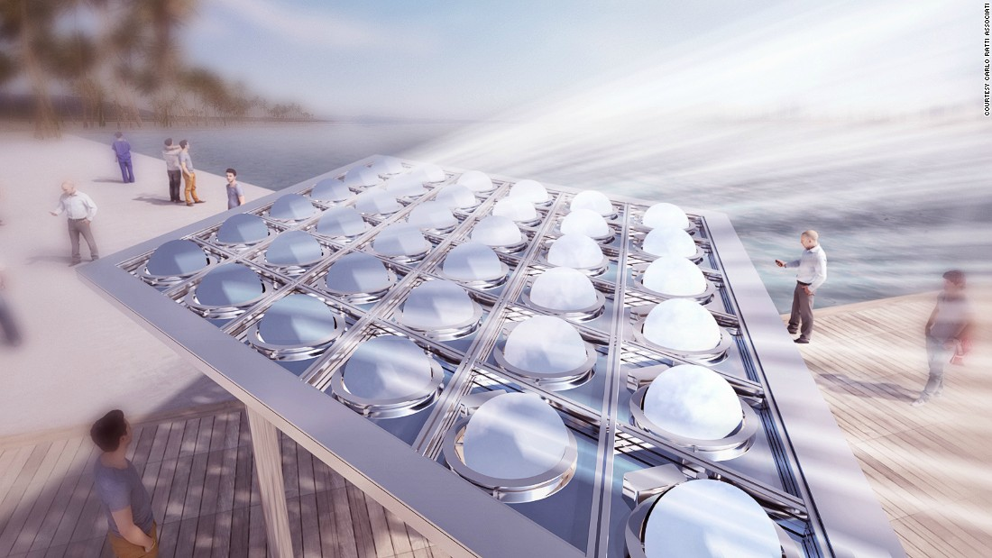 'Solar canopy' turns sunlight into electricity and art