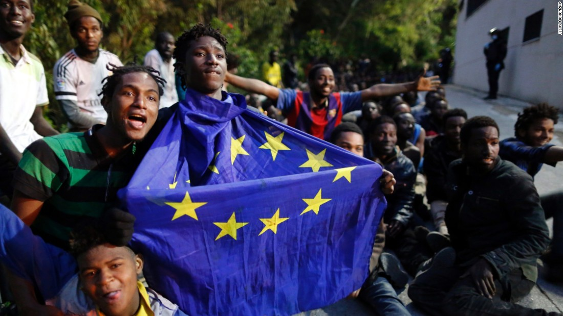 Nearly 500 migrants storm border with Spain