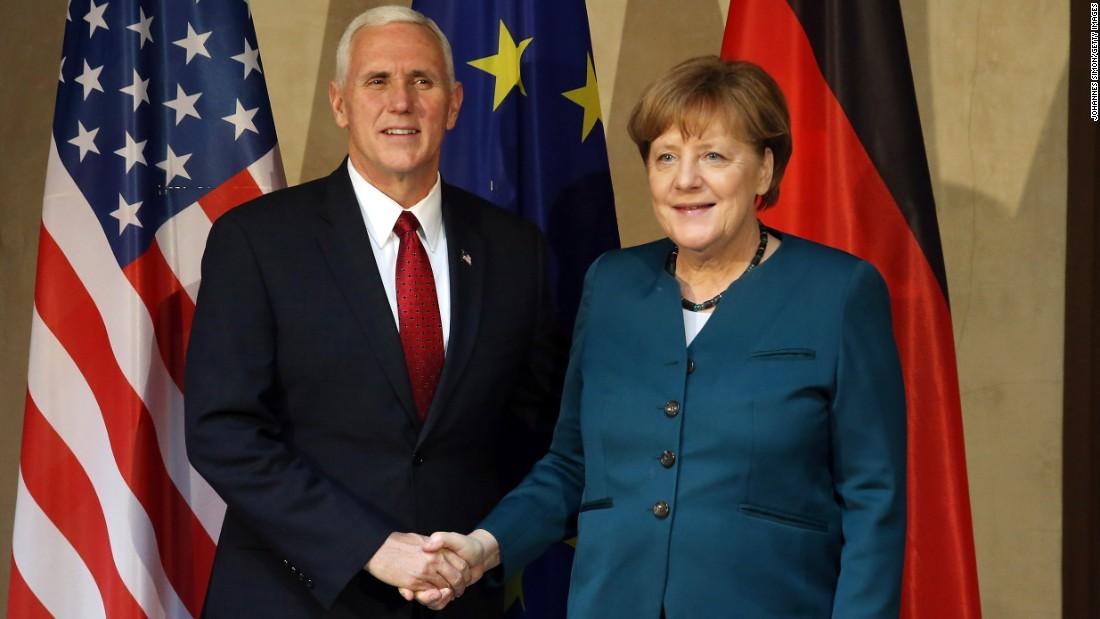 Pence visits former Nazi concentration camp