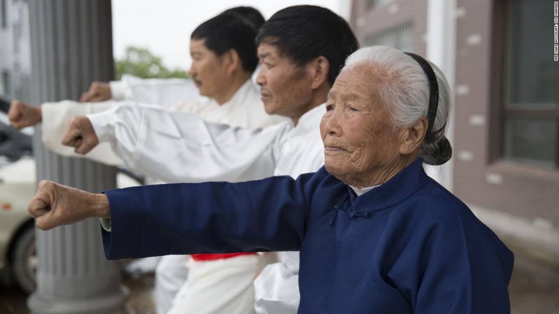 Kung fu granny becomes internet hit