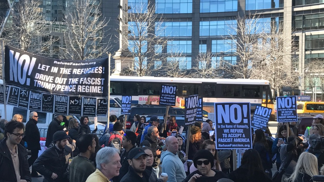 'Not My President's Day' rallies across US