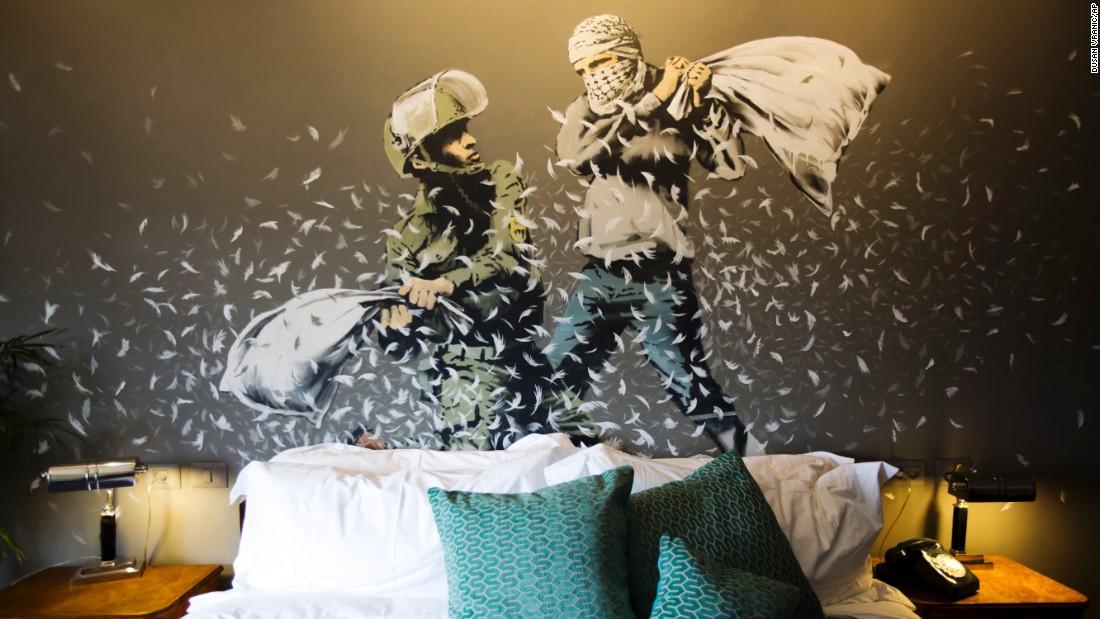 Banksy's art hotel opens doors in Bethlehem