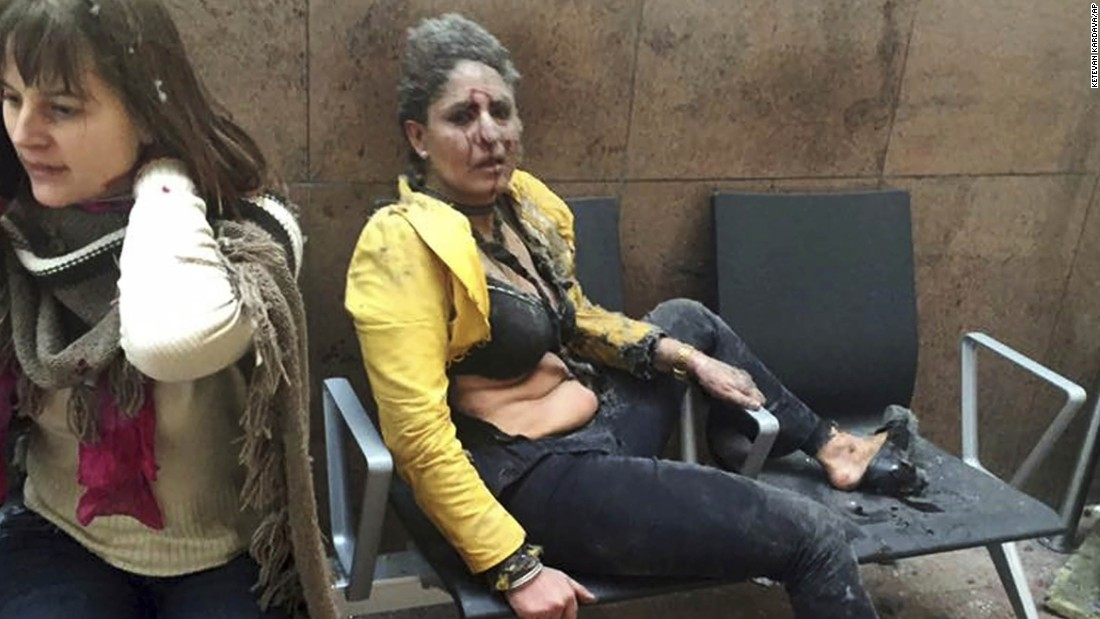 Story behind woman who became face of Brussels attack