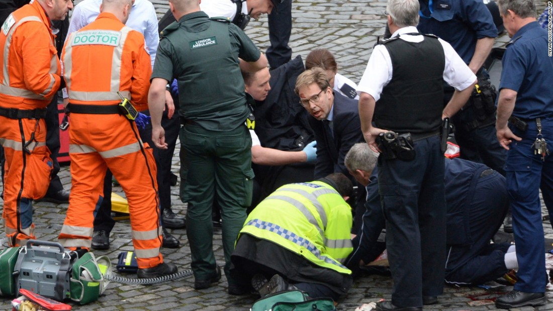 Amid London chaos, MP rushes to victim's aid