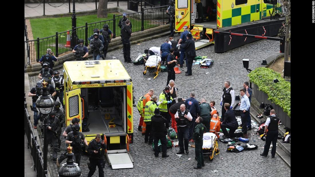 Three people killed, plus attacker, near UK Parliament