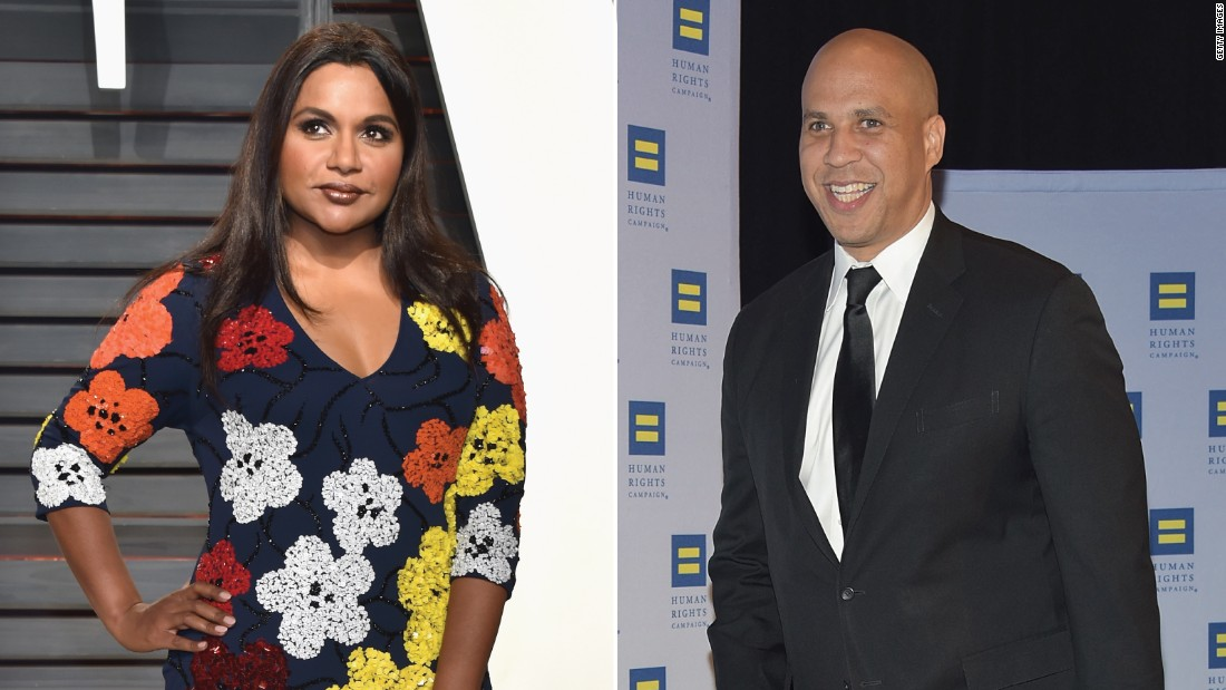 Mindy Kaling disses Cory Booker and gets a date