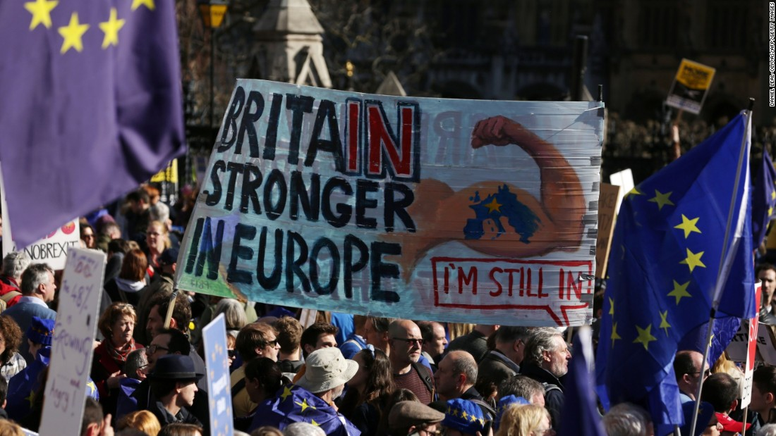 Anti-Brexit protesters hit London streets