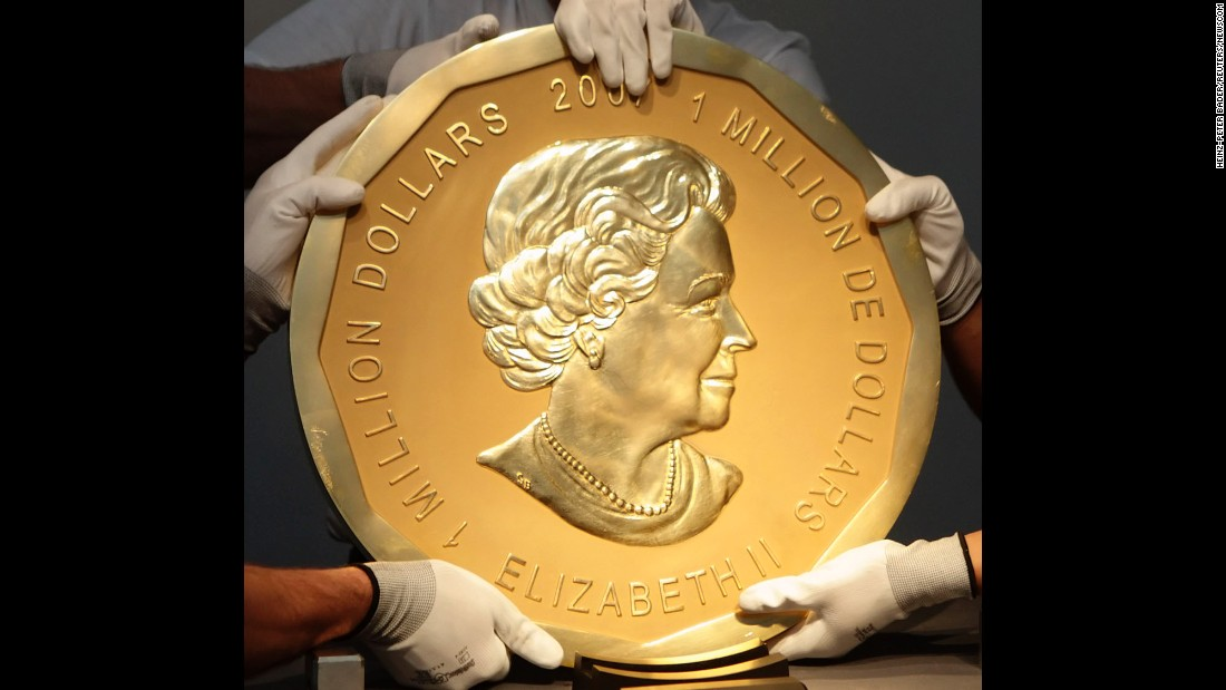 A 200-lb gold coin that's worth more than $1 million is stolen