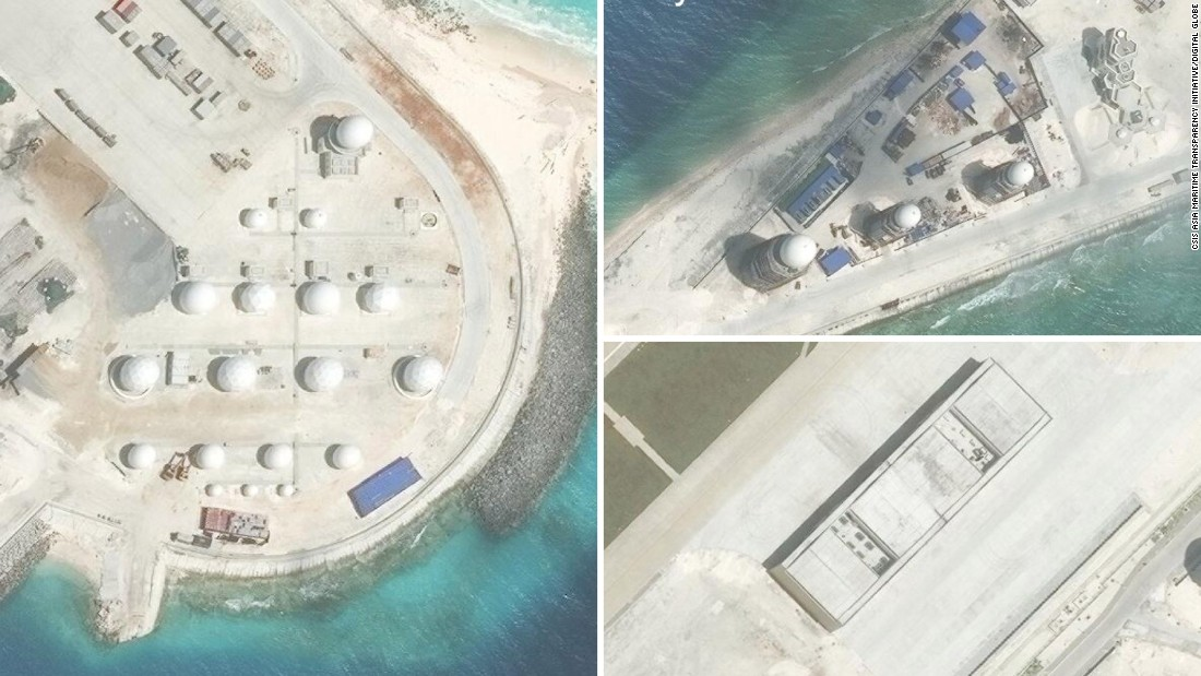 South China Sea: Aircraft hangars, radar installed on artificial islands