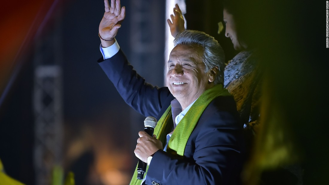 Ruling party candidate claims win in Ecuador