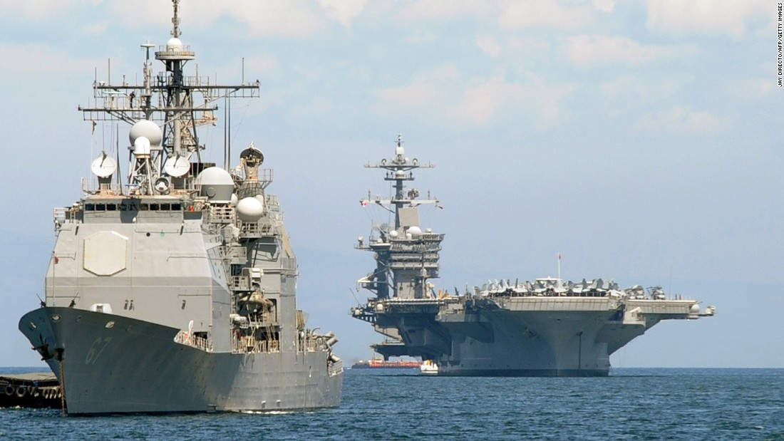USS Carl Vinson begins drills