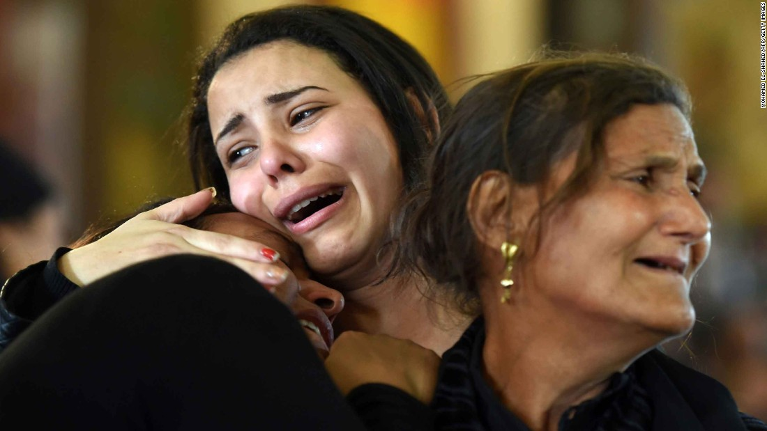 Grief in Egypt's Coptic community after attacks