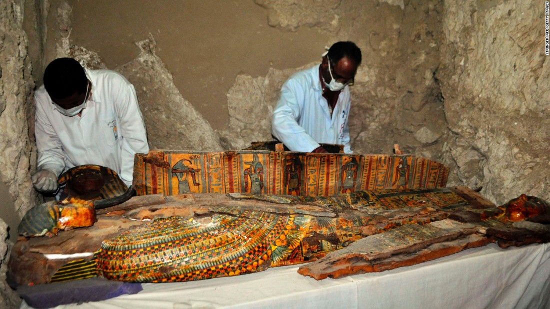Egypt unearths mummies in 3,500-year-old tombs