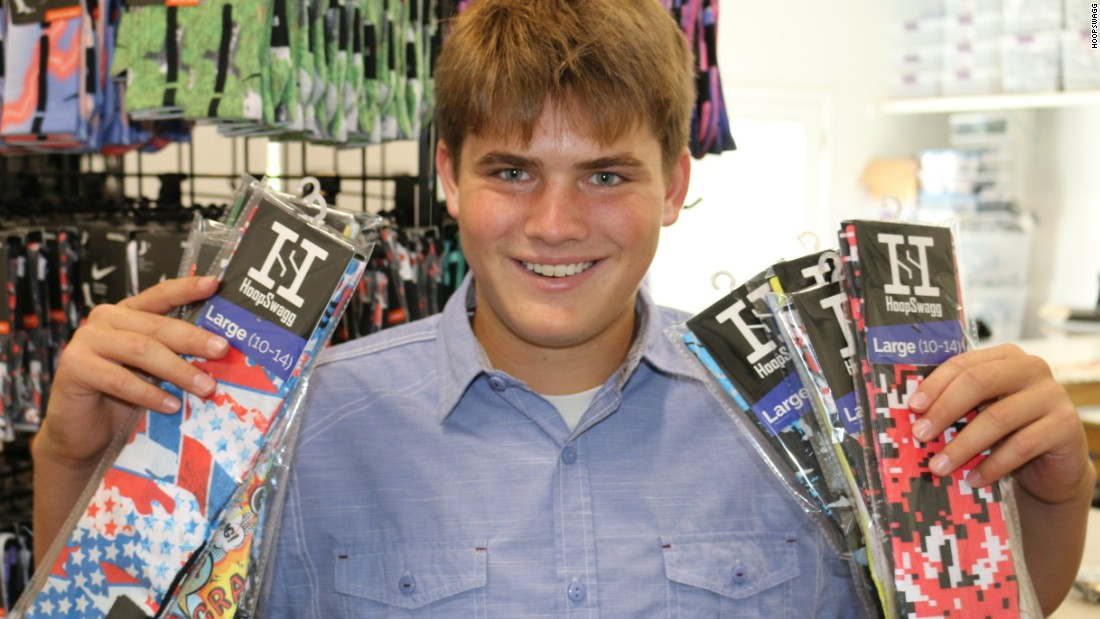 High schooler sells $1M in custom socks