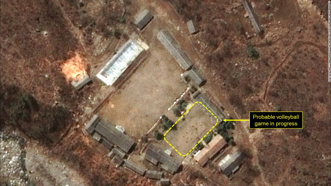 Volleyball court at N. Korean nuclear test site?