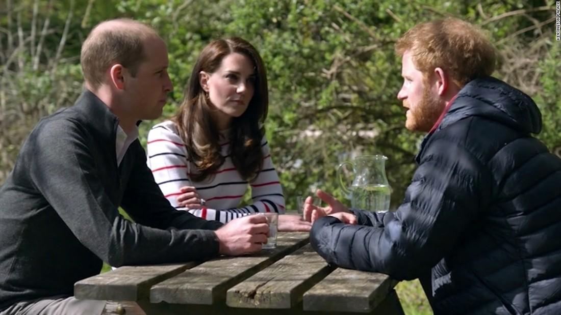 UK's young royals discuss mental health