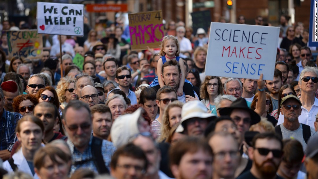 Protesters march worldwide in support of science