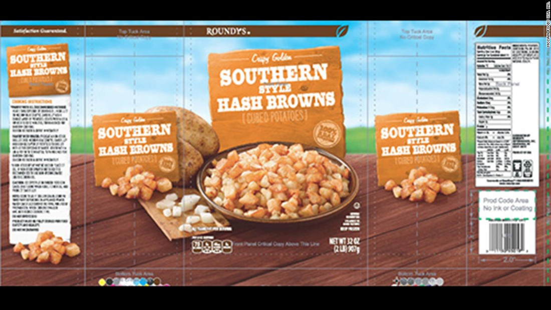 Hash brown recall due to possible golf balls